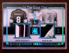 2015/16 DREW DOUGHTY / ROB BLAKE IN THE GAME USED DUAL PATCH SSP 1/3!!
