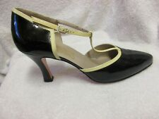 Womens FARRAGAMO Fashion Two Tone Leather Cutout High Heel Shoes Pumps 10 B.