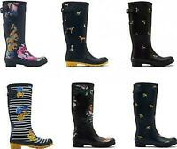 Joules WELLY PRINT Womens Ladies Stylish Design Rubber Wellington Boots Wellies