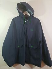 Coleman Blue Rain Coat Outdoor Jacket Green Buttons Size M/L
