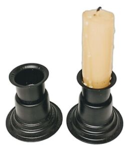 """Set of 2 BASIC WINDOWSILL TAPER CANDLE HOLDERS, 2"""" Tall, The Country House"""