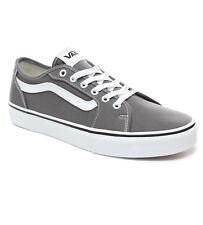 VANS Filmore Decon Stripe Canvas Fashion Skater Shoe Trainers Pewter Grey