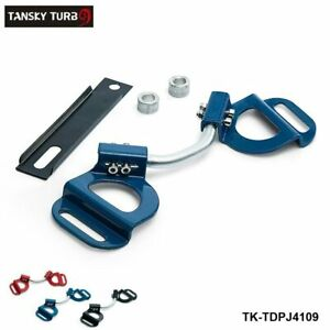 Blue Car Adjustable Battery Hold Down Kit Clamp Bracket Bolts For Subaru Toyota