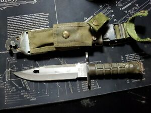 G.i surplus MILITARY M9 BAYONET PHROBIS III with BIANCHI SHEATH/trench art,
