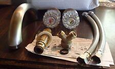 """*NEW* 7"""" J Spout Roman Faucet W/Two Acrylic Handles 1/2 IPS Flo CL-3183182BN1"""