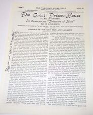 1905 OTQ #72b The Great Prison-House To Be Destroyed 4 pg  Repro Watchtower IBSA