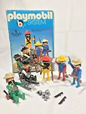 Vintage 1976 Playmobil 3241 Western Cowboys & Mexicans Set Complete in Box RARE