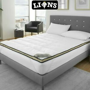 Luxury Carbon Mattress Topper Protector Ultra Soft Touch Cover 4CM Deep