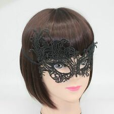 Sexy Lace Venetian Mask Masquerade Ball Prom Halloween Costume Fancy Dress Black