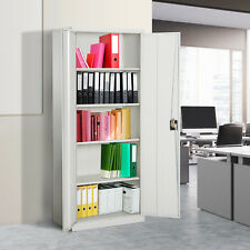 Vinsetto Filing Cabinet Storage Office 2 Doors Adjustable Shelf Metal Furniture