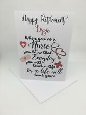 PERSONALISED NURSE CARD 5X7 INCHES TOUCH A LIFE WILL TOUCH YOURS 6