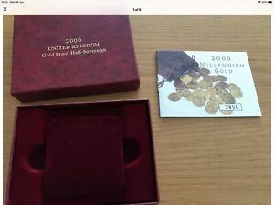 2000 Gold proof half-sovereign Millennium Gold COA 3805 Boxed