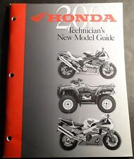 2000 Honda Motorcycle & Atv Technicians New Model Guide Service Manual (219)
