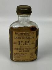 Rare Humphries' Dog Remedy Veterinary Medicine Bottle