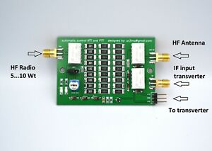 Attenuator / Transverter SMA Interface Board 50 70 144 222 432 Mhz VHF UHF ham