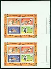 Tanzania 1979 Year of Child SS proof PAIR