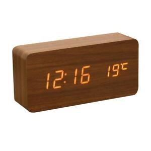 Led Digital Wooden Alarm Clock