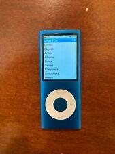 Apple iPod nano 4th Generation Blue (8GB), Excellent Condition