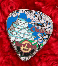 Hard Rock Cafe Pin OSAKA Postcard GUITAR PICK serie Castle cherry blossom temple