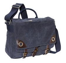 """Ducti """"Blue Angel"""" Tough Canvas Laptop Messenger Bag - Navy Blue"""