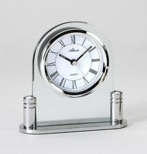 Atlanta Alarm Clock Analogue, Silver - 11cm H x 11cm W