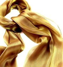Chiffon Scarf Gold-Silver Metallic sheen-Neck-Arm Shawl Shoulder wrap - glamour