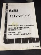 Yamaha YZ125(B)/LC Owners Service Manual
