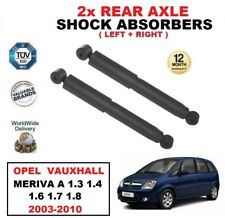 2x REAR SHOCK ABSORBERS for OPEL VAUXHALL MERIVA A 1.3 1.4 1.6 1.7 1.8 2003-2010