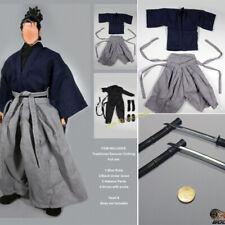 Figuras muñecas escala 1/6 Samurai ropa Set para 12in figura hakama En Stock Nuevo