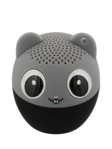 Bluetooth Speaker Mouse with Remote Shutter Release Grey 4.3x4.5cm