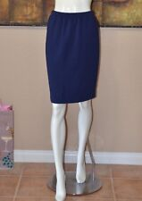 St John Haute Couture By Marie Gray Blue Crepe Skirt SZ 4 NEW!!!