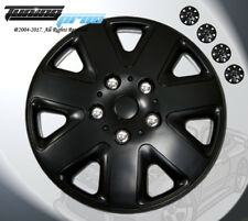 """Matte Black Style 026 15 Inches Hubcap Wheel Cover Rim Skin Covers 15"""" Inch 4pcs"""