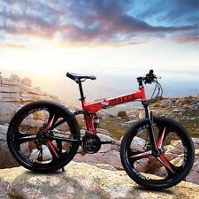 """26"""" Full Suspension Mountain Bike 27 Speed Folding Bicycle Men or Women MTB"""