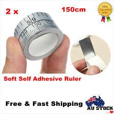 2 x150cm Vinyl Silver Self Adhesive Measuring Tape Measure Ruler Sewing Stiker