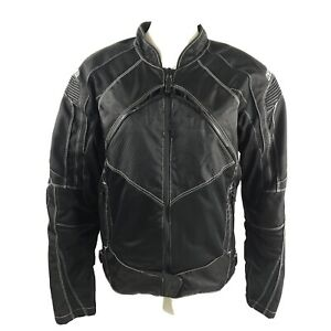Icon Moto Contra Motorcycle Jacket Sz Small Black Armored Padded Full Zip Liner
