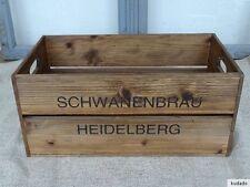nr.c9 VINTAGE CASSA ~schwanenbräu Heidelberg~ CASSA PER LEGNA ~ shabby chic