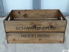 Nr.C9 Vintage Caisse~Schwanenbräu Heidelberg~ Boîte en Bois ~ Shabby Chic