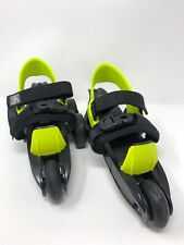 Cardiff Cruiser Adjustable Roller Skates Sz Youth 12 Boys 5/Girls 6 Lime/Blk Euc