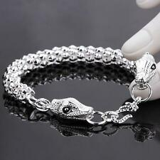 925 silver filled double snake chain bracelet women jewelry Mother's day gift