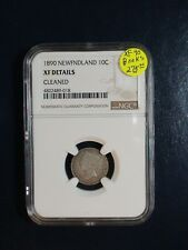 1890 Newfoundland Ten Cents NGC XF SILVER 10C Coin PRICED TO SELL NOW!