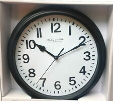 "Mainstays Sterling and Noble 8.78"" Analog Display Wall Clock - Black"