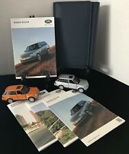 2017 Land Rover Range Rover FULL SIZE with Navigation Owners Manual Set #O943