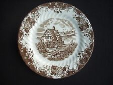 """JOHNSON BROTHERS - ENGLISH COUNTRY LIFE (BROWN) 8.5"""" DESSERT PLATE"""
