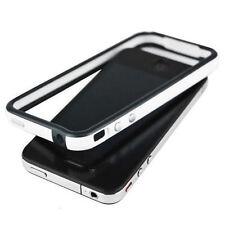 Nuevo Blanco Y Negro parachoques caso Protector De Llanta Cubierta Para Apple Iphone 4 4g Reino Unido