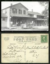 Salisbury rppc  Barragans Store Car Herkimer NY stamp 1916