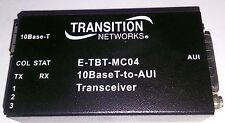 1 USED TRANSITION NETWORKS E-TBT-MC04 TRANSCEIVER ***MAKE OFFER***