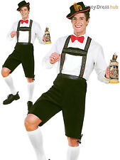 Mens Oktoberfest Costume German Beer Man Lederhosen Bavarian Fancy Dress Outfit