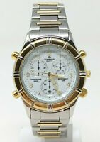 Orologio Lorenz chrono ref 15953 watch swiss choronograph stainless steel clock