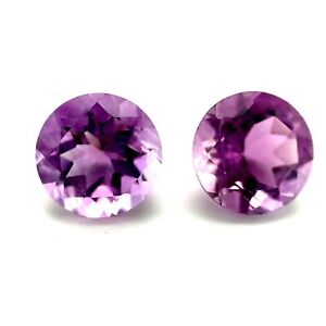 3.66tcw Purple Amethyst Stones, Rounds, IF Natural Gemstone *Video*