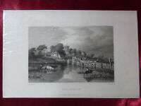 Antique engraving of FRESHWATER, ISLE OF WIGHT c1830 Very rare art print.